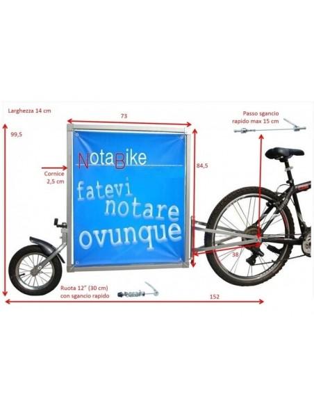 NOTABIKE CARRELLINO PER PUBBLICITA'