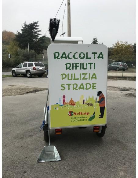 E-Trike Gladiator II – Triciclo pulizie urbane